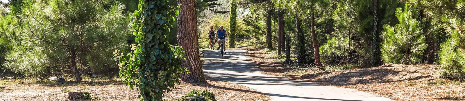 balade à vélo camping porte en ré